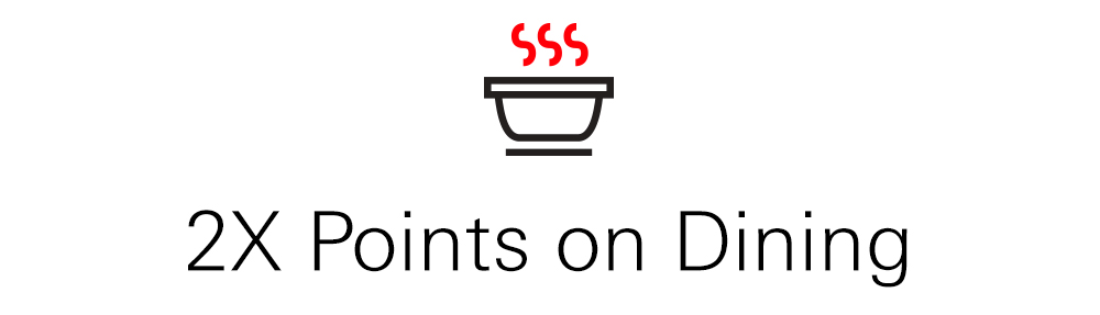 2X travel and dining points