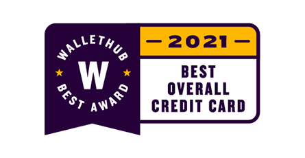 Wallethub Best Award 2021 Best Overall Credit Card