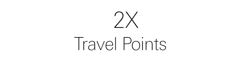 2x travel points