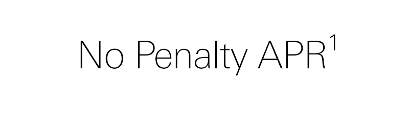 no penalty APR. see footnote 1 for details