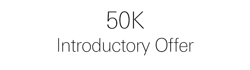 50K introductory offer