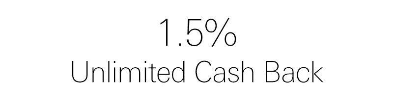 1.5% unlimited cash back