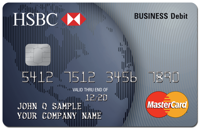 Debit credit cards small business banking hsbc us hsbc debit mastercard businesscard reheart Gallery