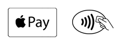 Apple Pay logo and contactless symbol