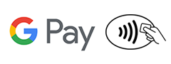 Google Pay logo and contactless symbol