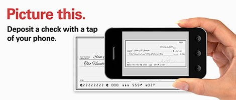 Picture this. Deposit a check with a tap of your phone